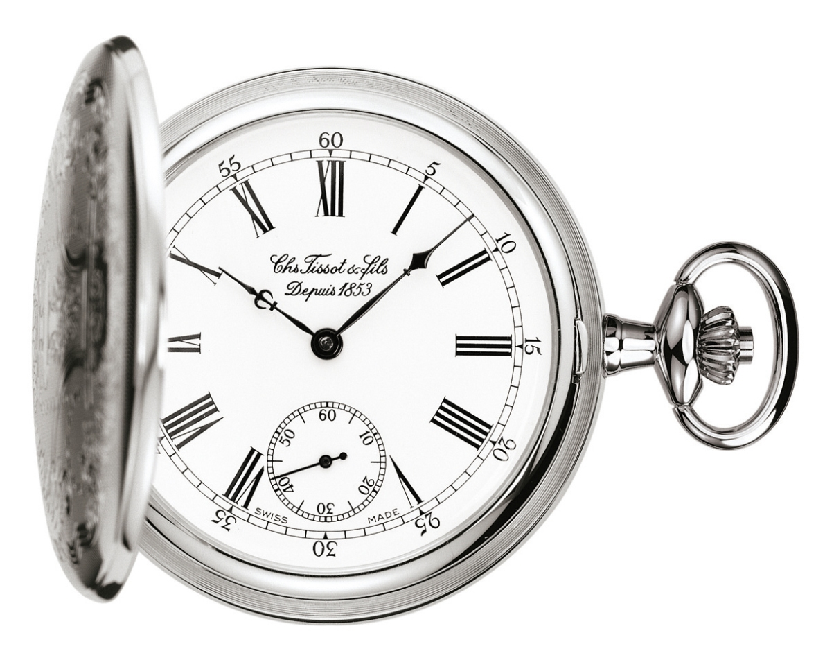 "TISSOT T83.6.454.13 ""T-POCKET SAVONNETTE MECHANICAL"""