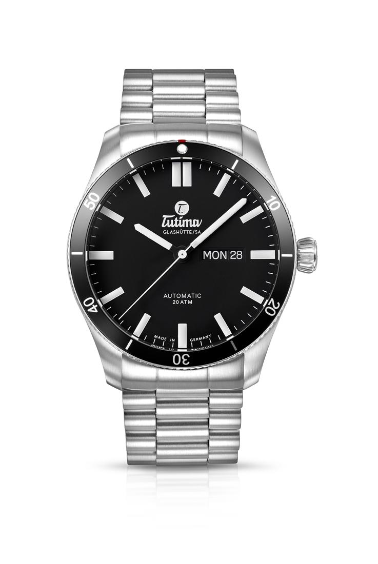 正規品 Tutima チュチマ 6101-02 グランドフリーガー エアポート オートマチック 腕時計