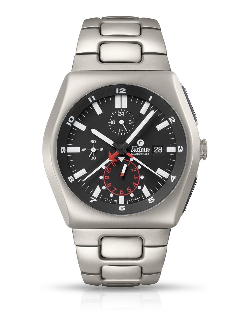 正規品 Tutima チュチマ 6450-03 M2 クロノグラフ 替えベルト付き 腕時計