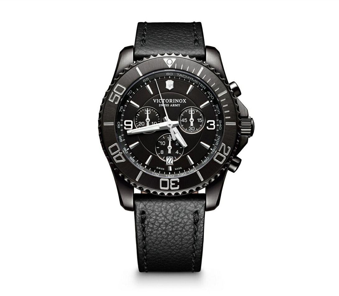 正規品 VICTORINOX ビクトリノックス 241786 マーべリック クロノグラフ ブラックエディション 腕時計