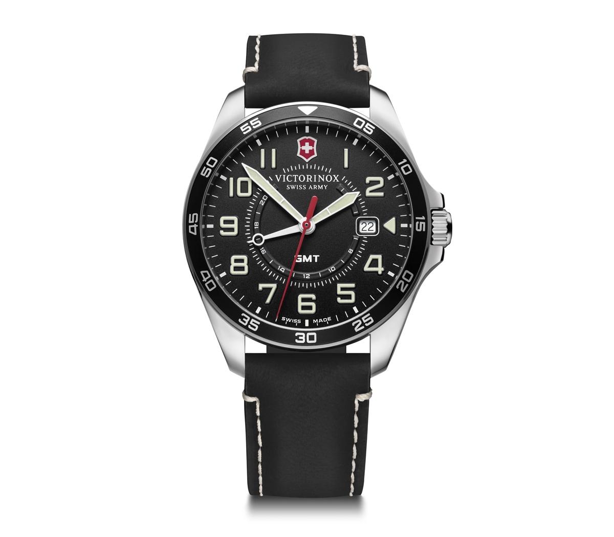 正規品 送料無料 クォーツ 上品 メンズ GMT ビクトリノックス VICTORINOX ブラックダイヤル フィールドフォースGMT 腕時計 241895 即納最大半額