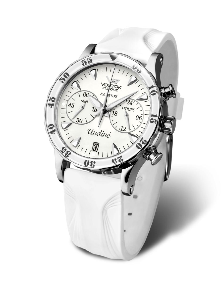 ボストーク VOSTOK EUROPE ヨーロッパ VK64-515A524 ウンディーネ クロノグラフ 替えベルト付属 正規品 腕時計