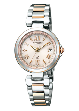 "CITIZEN XC EC1034-59W ""艾考驱动器电波钟表HAPPY FLIGHT """