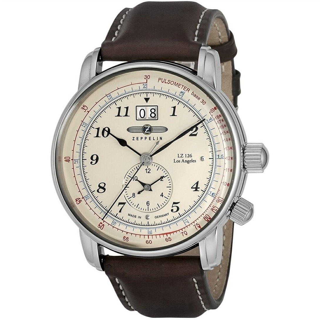 【今ならオリジナル折り畳み傘プレゼント】 ツェッペリン ZEPPELIN 86445 LZ126 Los Angeles ロサンゼルス 正規品 腕時計