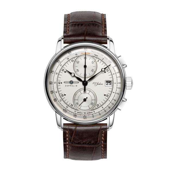 正規品 送料無料 クォーツ メンズ クロノグラフ ZEPPELIN 人気急上昇 保証 腕時計 8670-1 100周年記念モデル ツェッペリン
