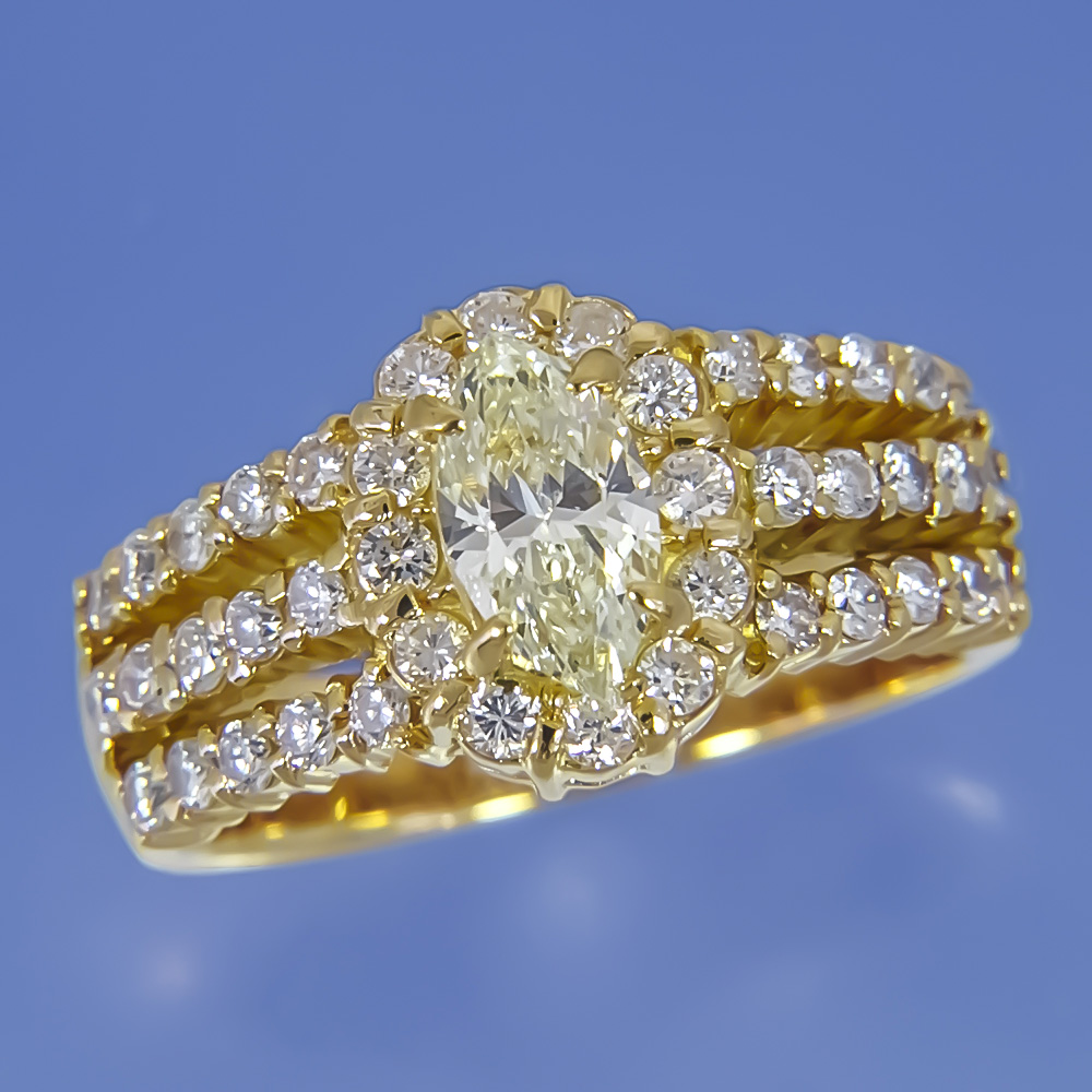 k18 ダイアモンド デザイン リング