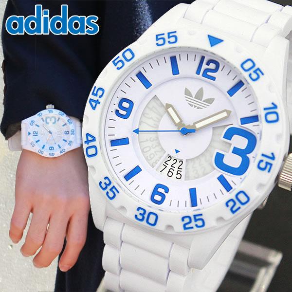 【送料無料】アディダス adidas Originals オリジナルス NEWBURGH ニューバーグ メンズ 腕時計 時計 防水 ADH3012 海外モデル ホワイト 白 ブルー 青 誕生日プレゼント 男性 ギフト