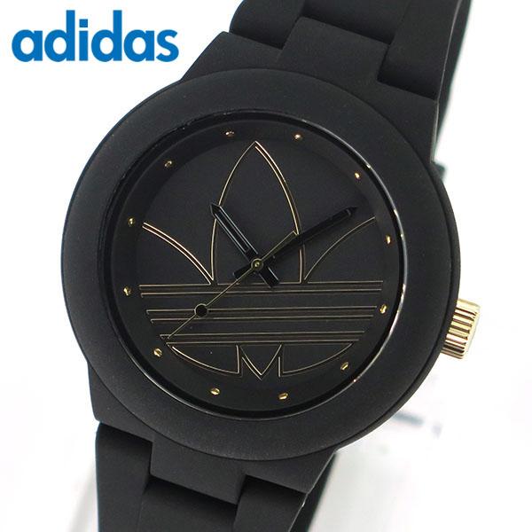 【29日9:59まで送料無料】アディダス かわいい 時計 黒 ブラック ゴールド ランニング adidas originals ADH3013 アバディーン ABERDEEN レディース 腕時計 ペアにも誕生日プレゼント 女性 ギフト