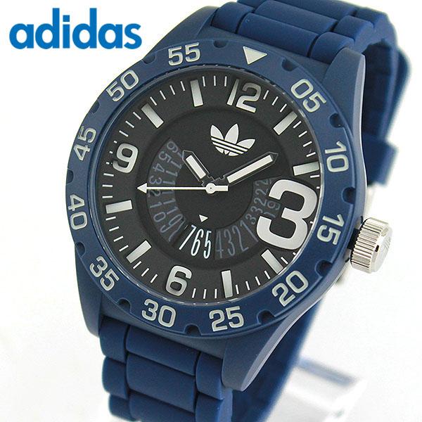 adidas アディダス originals オリジナルス NEWBURGH ニューバーグ メンズ 腕時計 ウォッチ 防水 カジュアル 黒 ブラック 青 ブルー シリコン バンド ADH3141 誕生日プレゼント 男性 クリスマス ギフト