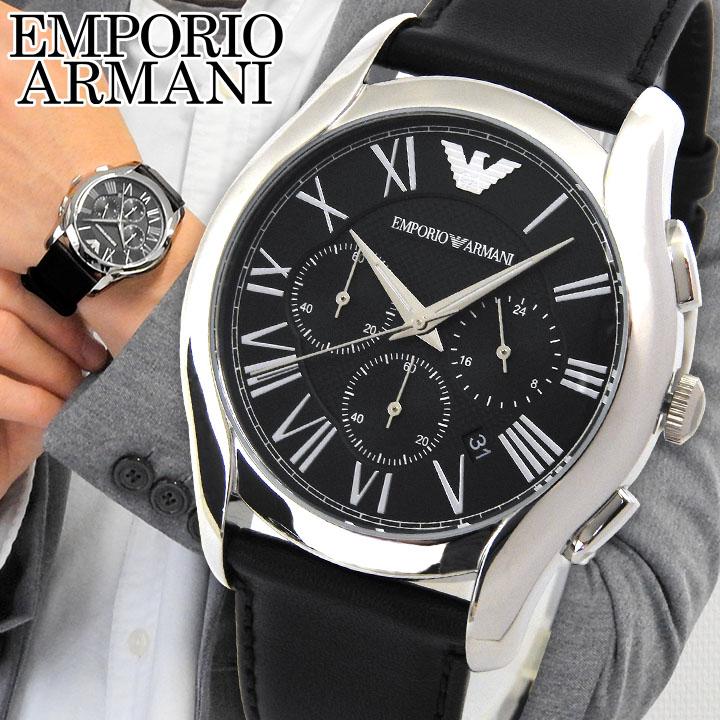 【送料無料】EMPORIO ARMANI エンポリオアルマーニ クロノグラフ クラシック メンズ 黒 腕時計 時計 watch ウォッチ ブラック AR1700 海外モデル 誕生日プレゼント 男性 ギフト