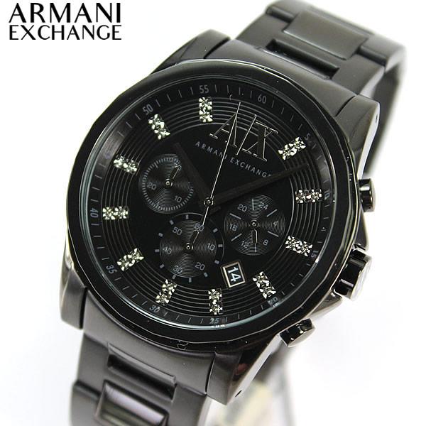 watch store kato tokeiten rakuten global market ● ax2093 ax2093 armani exchange armani exchange crystal markers mens watch watches chronograph