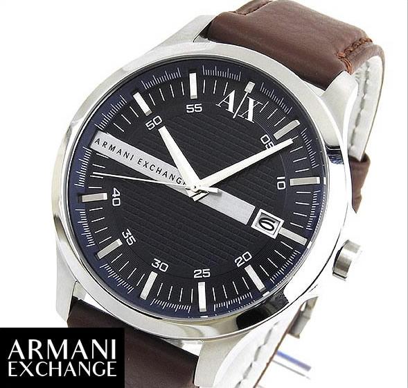 【送料無料】ARMANI EXCHANGE アルマーニ エクスチェンジ AX2133 海外モデル メンズ 腕時計 ウォッチ watch 革ベルト レザー クオーツ アナログ 青 ネイビー 誕生日プレゼント 男性 ギフト