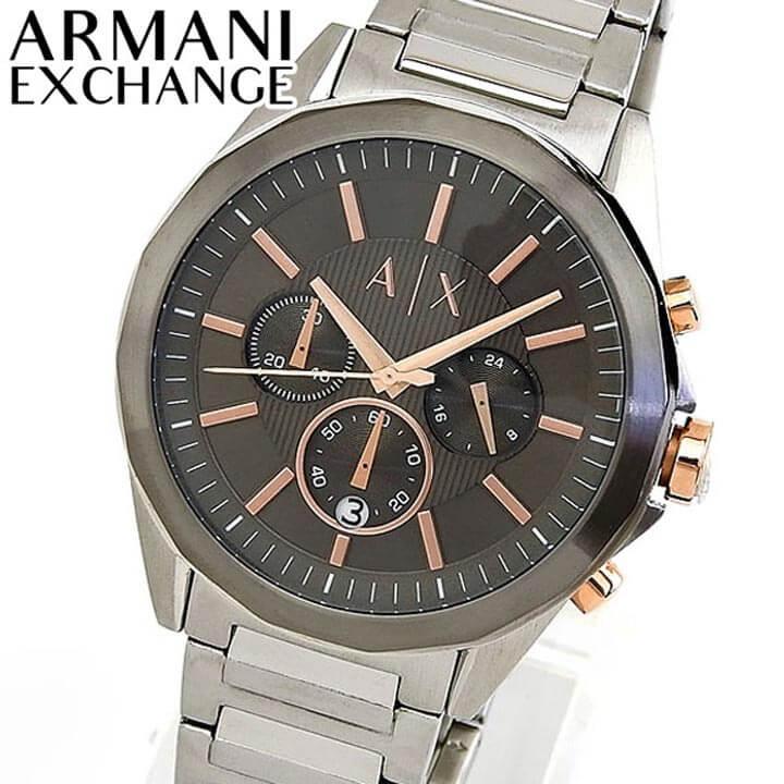 ARMANI EXCHANGE アルマーニ エクスチェンジ DREXLER ドレクスラー AX2606 メンズ 腕時計 メタル クロノグラフ カレンダー クオーツ アナログ 銀 シルバー グレー ローズゴールド 誕生日 男性 ギフト プレゼント 海外モデル