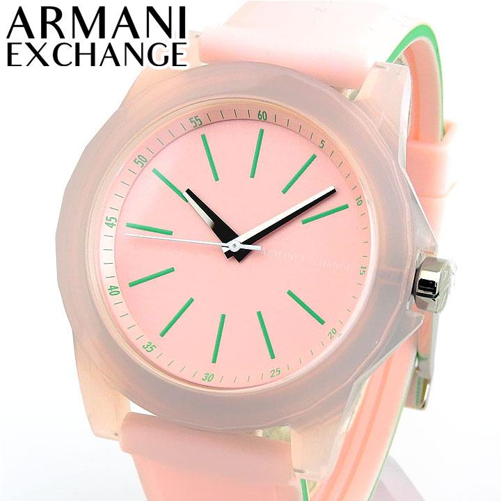 ARMANI EXCHANGE アルマーニ エクスチェンジ AX4361 レディース 高校生 腕時計 シリコン ラバー ピンク 緑 グリーン 誕生日 女性 ギフト プレゼント 海外モデル