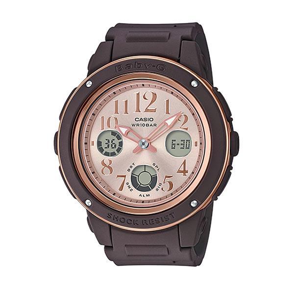 CASIO カシオ Baby-G ベビ−G BGA-150PG-5B1JF レディース 腕時計 ウレタン 多機能 クオーツ アナログ デジタル 茶 ブラウン ピンクゴールド ローズゴールド 国内正規品 卒業祝い 入学祝い