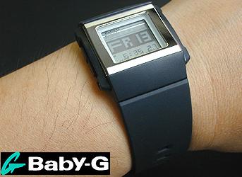 精简的 ★ 框卡西欧宝贝 g 棺材 BG-2000年-1 博士系列黑色时尚! 宝贝 G 国际女性时尚手表