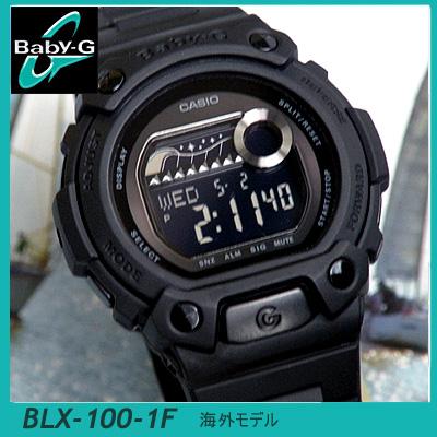 卡西欧宝贝宝贝-g G 婴儿 Gee BLX-100-1F 黑色固体颜色女士手表手表
