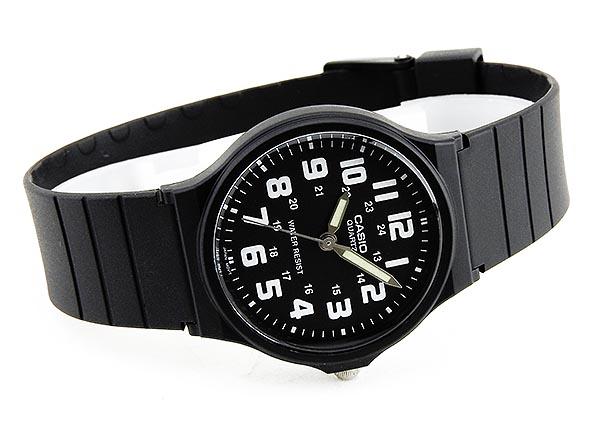 de CASIO chipukashiochipukashisutandado MQ-71-1B黑黑色白人分歧D手表钟表模拟海外型号