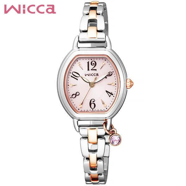 【送料無料】シチズン ウィッカ ブレスライン CITIZEN wicca ソーラー 腕時計 レディース KP2-531-91 国内正規品 メタル バンド ブレスレット ソーラーテック シルバー 誕生日プレゼント 女性 ギフト
