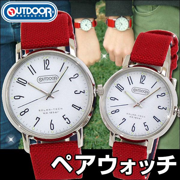 356baa83ca メンズ&レディース アウトドアプロダクツ 時計 ソーラーテック KP2-311-10 ホワイト×ブラック OUTDOORPRODUCTS 腕時計 ...