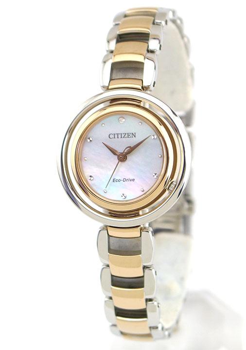 d41fe8b0b8 シチズンエルエコドライブレディース腕時計EM0666-97DメタルCITIZEN国内正規品誕生日
