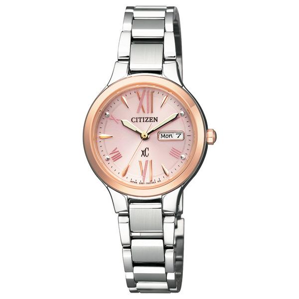 シチズン クロスシー エコドライブ ソーラー CITIZEN xC EW3224-53W 国内正規品 腕時計 レディース ソーラー 日付カレンダー シルバー ピンク 誕生日プレゼント 女性 ギフト