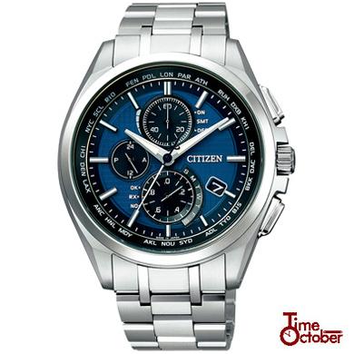 CITIZEN シチズン ATTESA アテッサ AT8040-57L メンズ 腕時計 チタン メタル クロノグラフ カレンダー エコドライブ 電波 カジュアル アナログ 青 ブルー 銀 シルバー 国内正規品