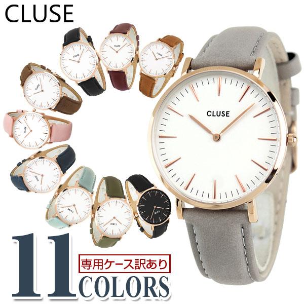 CLUSE クルース La Boheme ラ・ボエーム 38mm 海外モデル レディース 腕時計 ウォッチ 革ベルト レザー 白 ホワイト 金 ピンクゴールド 女性 誕生日プレゼント 女性 クリスマス ギフト