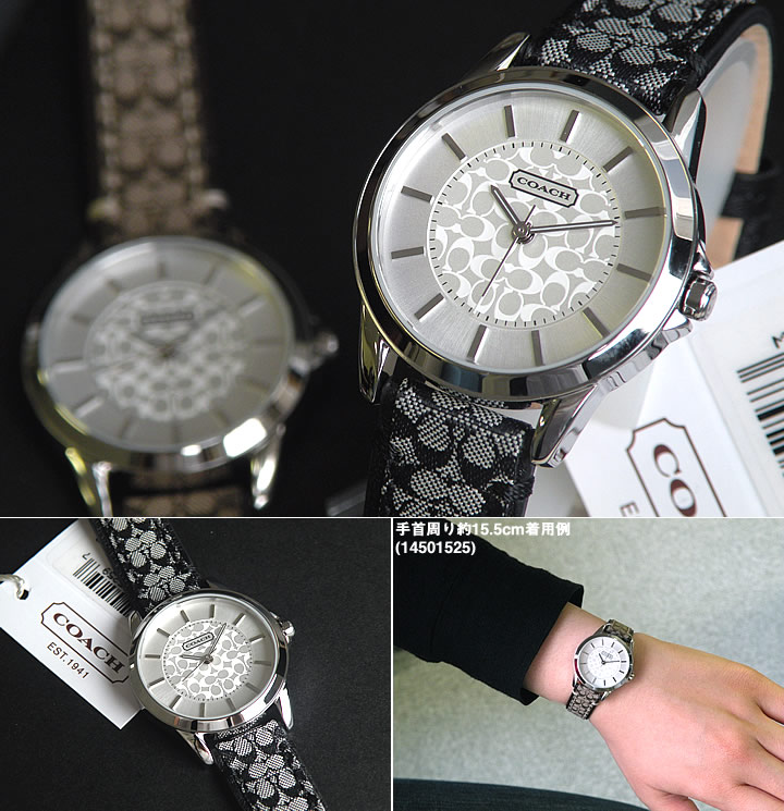b68fa2599 ... COACH coach 14501524 Classic Signature classical music signature Lady's watch  clock brand leather band birthday present ...