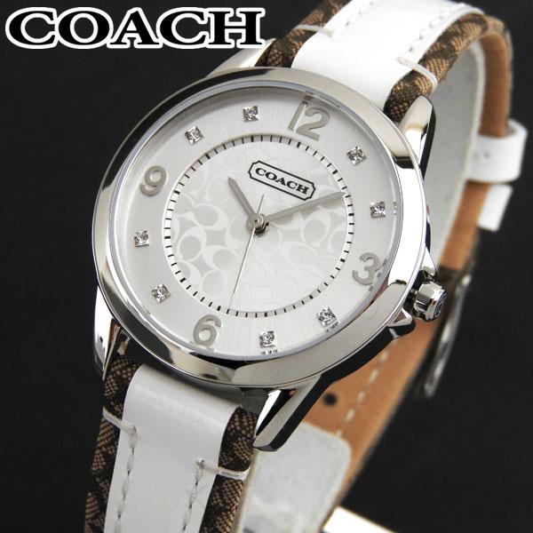 COACH コーチ NEW CLASSIC SIGNATURE ニュークラシックシグネチャー 14501619 海外モデル レディース 腕時計 ウォッチ 白 ホワイト 銀 シルバー 誕生日 女性 ギフト プレゼント