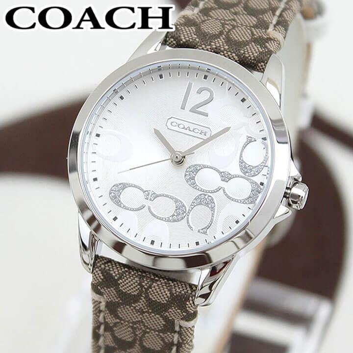 【送料無料】COACH コーチ ニュークラシック シグネチャー 14501620 海外モデル レディース 腕時計 ウォッチ 革ベルト レザー クオーツ アナログ 銀 シルバー 誕生日プレゼント 女性 ギフト