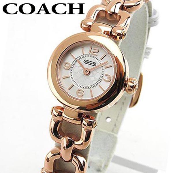 COACH コーチ 時計 おしゃれ ブランド かわいい WAVERLY ウェイバリー 14501855 海外モデル レディース 腕時計 ウォッチ 白 ホワイト ピンクゴールド 誕生日プレゼント 女性 ギフト
