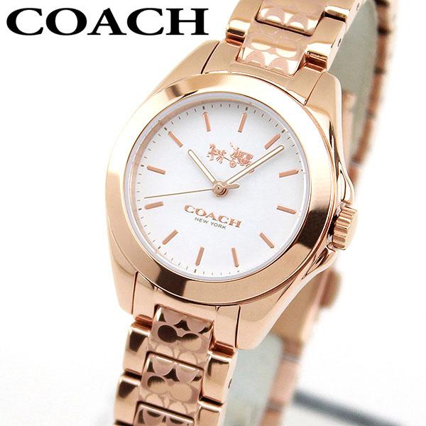 【送料無料】COACH コーチ TRISTEN MINI トリステン ミニ 14502185 海外モデル レディース 腕時計 ウォッチ メタル バンド クオーツ アナログ 白 ホワイト 金 ピンクゴールド 誕生日プレゼント 女性 ギフト