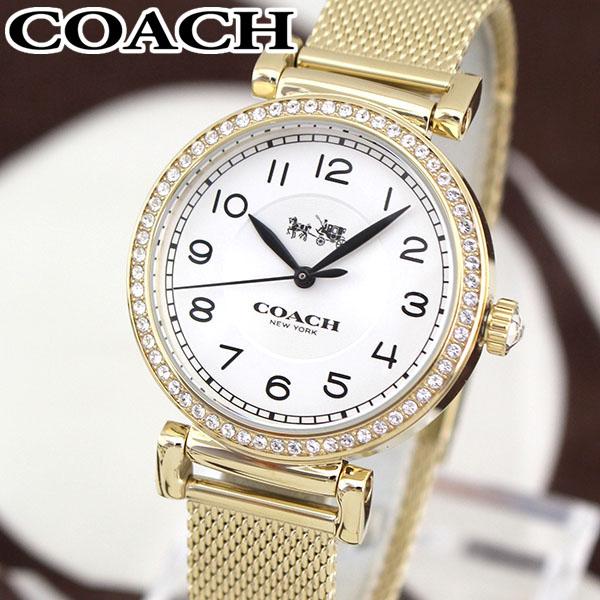 【送料無料】COACH コーチ MADISON マディソン 14502652 海外モデル レディース 腕時計 ウォッチ メタル バンド クオーツ アナログ 白 ホワイト 金 ゴールド 誕生日プレゼント 女性 ギフト