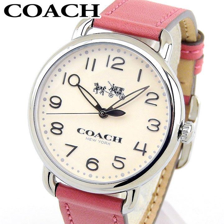 【送料無料】COACH コーチ DELANCEY デランシー 14502717 レディース 腕時計 革ベルト レザー シルバー ピンク 誕生日プレゼント 女性 卒業祝い 入学祝い ギフト 海外モデル