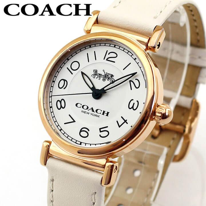 【送料無料】COACH コーチ 14502862 レディース 腕時計 革ベルト レザー アイボリー ピンクゴールド 誕生日プレゼント 女性 卒業祝い 入学祝い ギフト 海外モデル