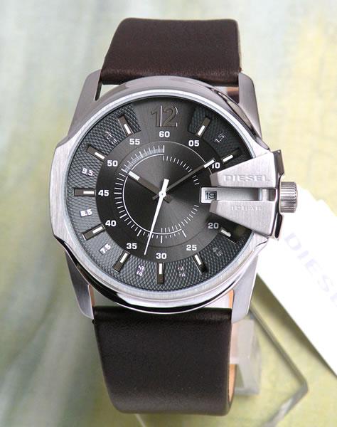 ディーゼル 時計 おしゃれ かっこいい ブランド DIESEL メンズ 腕時計 新品 カジュアル ブランド アナログ DZ1206 海外モデル ダークブラウン ブラウンレザー 革ベルト グレー文字板 カレンダー 誕生日 男性 父の日 ギフト プレゼント