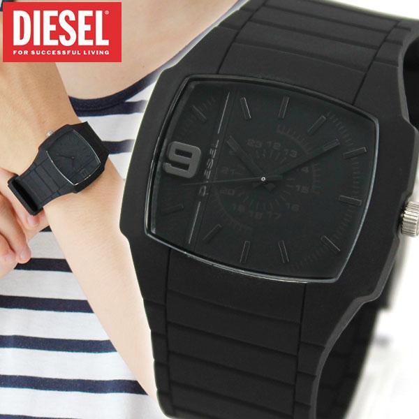 ディーゼル 時計 アナログ DIESEL DZ1384 ALL COLORS 黒 ブラック ラバーベルト メンズ 腕時計 watch カジュアル海外モデル 誕生日プレゼント 男性 ギフト