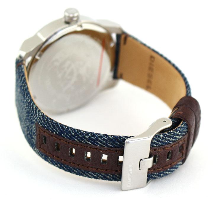 f04e8407e6 DIESELディーゼルARMBARアームバーDZ1769メンズ腕時計デニムカレンダークオーツアナログ青ネイビー金ゴールド銀