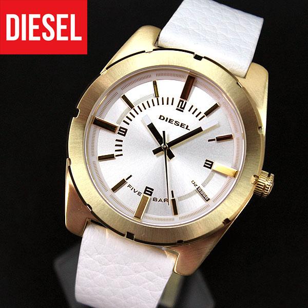 【送料無料】DIESEL ディーゼル アナログ 時計 DZ5356 ゴールド×ホワイト レディース 腕時計 watchカジュアルレザーバンド ベルト 海外モデル 誕生日プレゼント 女性 クリスマス ギフト