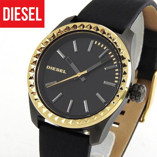 【送料無料】DIESEL ディーゼル クレイ クレイ DZ5408 レディース 腕時計 watch ウォッチ 革ベルト ベルト レザー アナログ 黒 ブラック 金 ゴールド 誕生日プレゼント 女性 ギフト