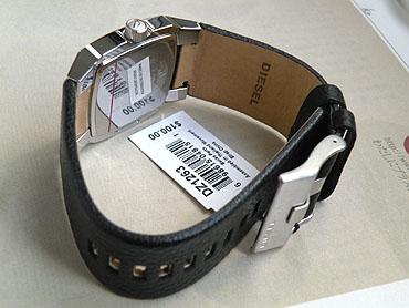 ★ 柴油钟表手表watchDIESEL柴油DZ1263表盘彩色蓝色(蓝)男子的女子的尺寸海外型号