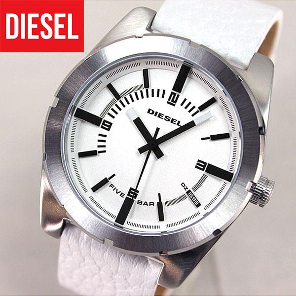 DZ1599 海外モデルDIESELディーゼルカジュアル レザー 白 ホワイト【GOOD COMPANY】グッドカンパニー メンズ 腕時計 watchユニセックス 時計 誕生日プレゼント 男性 父の日 ギフト