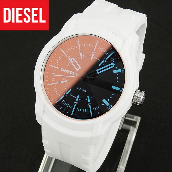 【送料無料】 DIESEL ディーゼル ARMBAR アームバー メンズ 腕時計 シリコン ラバー クオーツ アナログ 白 ホワイト 誕生日プレゼント 男性 ギフト DZ1818 海外モデル