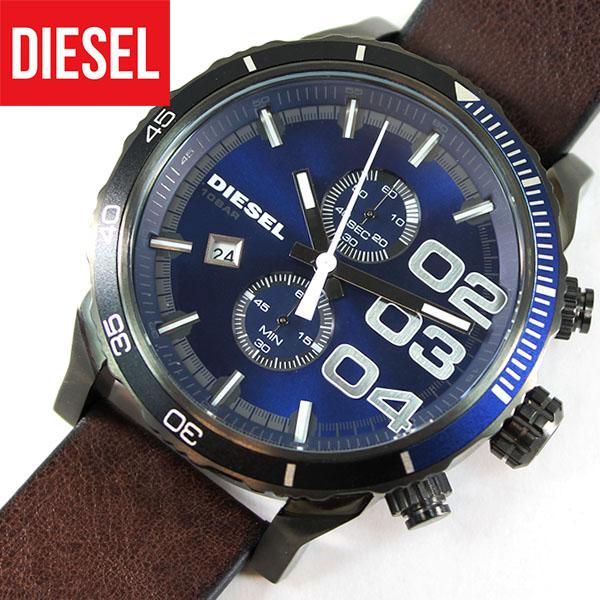 【送料無料】DIESEL ディーゼル FRANCHISE フランチャイズ DZ4312 メンズ 腕時計 革ベルト レザー クロノグラフ 青 ブルー 茶 ブラウン 誕生日プレゼント 男性 ギフト 海外モデル