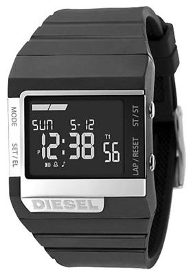 ★ 柴油手表手表柴油柴油 DZ7130 黑色倒液晶拨号流行瘦带中性国外模型