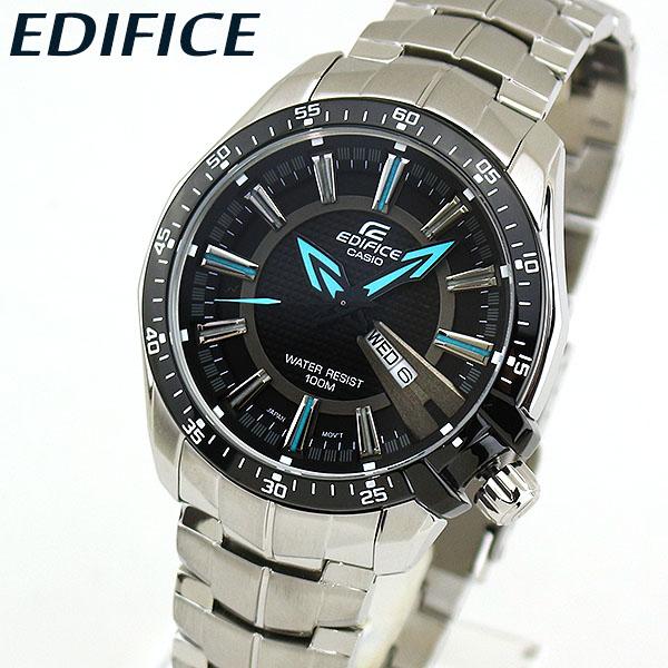 【送料無料】 CASIO カシオ EDIFICE エディフィス EF-130D-1A2V メンズ 腕時計 メタル クオーツ アナログ 黒 ブラック 青 ブルー 海外モデル 誕生日プレゼント 男性 ギフト