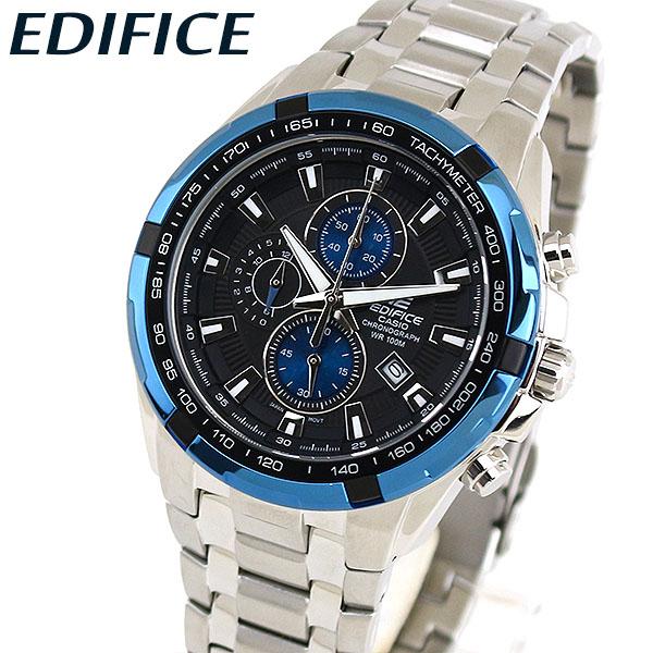 【送料無料】CASIO カシオ EDIFICE エディフィス EF-539D-1A2V メンズ 腕時計 メタル 黒 ブラック 青 ブルー 銀 シルバー 海外モデル 誕生日プレゼント 男性 卒業祝い 入学祝い ギフト