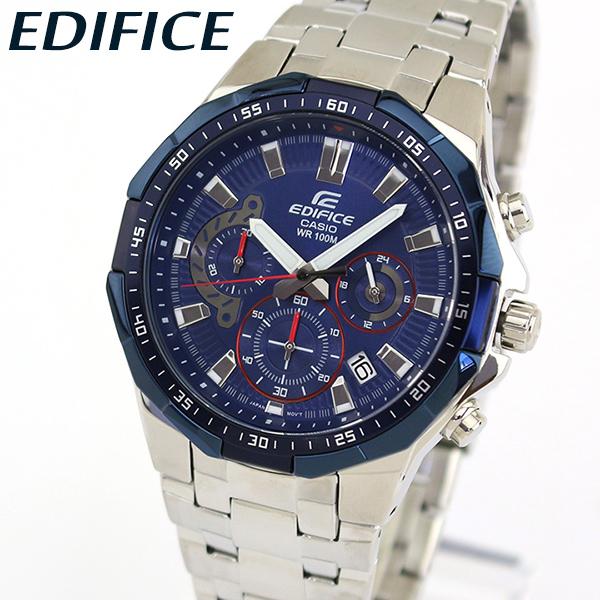 【送料無料】 CASIO カシオ EDIFICE エディフィス EFR-554RR-2AV メンズ 腕時計 メタル クロノグラフ カレンダー クオーツ アナログ 青 ネイビー 銀 シルバー 海外モデル 誕生日プレゼント 男性 ギフト