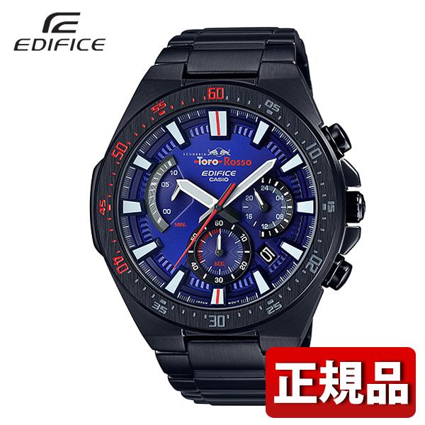 【送料無料】 CASIO カシオ EDIFICE エディフィス EFR-563TRJ-2AJR メンズ 腕時計 アナログ 黒 ブラック 赤 レッド 青 ブルー 国内正規品 スクーデリア・トロ・ロッソ・リミテッドエディション